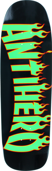 Ah Flaming Skate Co Lg Deck-9.52 Blk/Grn