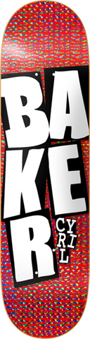 Baker Jackson Stacked Hologram Foil Deck-8.0 Red