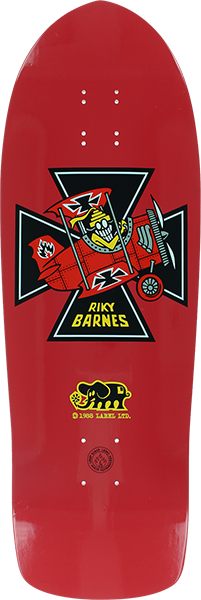 Bll Barnes Red Baron Deck-10.25X31.5 Red