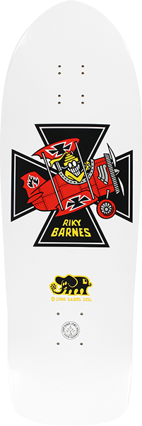 Bll Barnes Red Baron Deck-10.25X31.5 White