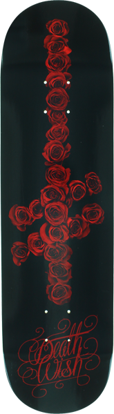 Dw Gang Logo Roses Deck-8.47 Blk/Red