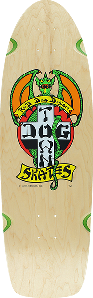 Dogtown Og Classic Red Dog Deck-9X30 Nat/Green