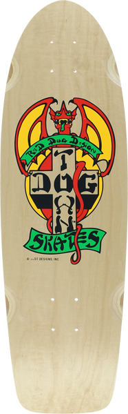 Dogtown Og Classic Red Dog Deck-9X30 Nat/Red/Yel