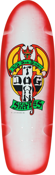 Dogtown Og Rider Deck-9X30.25 Wht/Red Fade