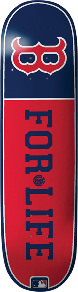 El Mlb For Life Red Sox Deck-8.0 Featherlight