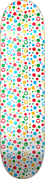The Heart Supply Polka Hearts Deck-8.25 White