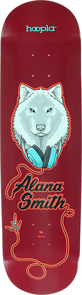 Hoopla Alana Smith Wolf Ii Deck-8.5 Red