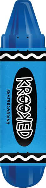 Krooked Krayon Deck-7.5X30.9 Blue
