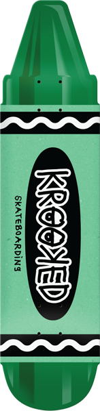 Krooked Krayon Deck-7.5X30.9 Green