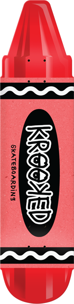 Krooked Krayon Deck-7.5X30.9 Red