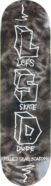 Krooked Let's Skate Dude Deck-8.18 Monochrome