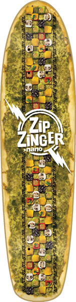 Krooked Zip Zinger Nano Sk8 Or Pie Deck-7.125X29