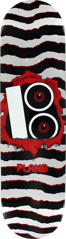 Plan B Torn Deck-8.5 Silver/Blk/Red