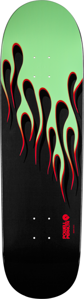 Pwl/P Hot Rod Flames Deck-9.37 Grn/Red
