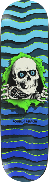 Pwl/P New School Ripper 5  Deck-8.25 Blue/Teal/Grn
