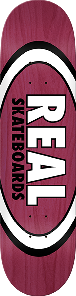 Real Overspray Oval Deck-8.38 Burgundy