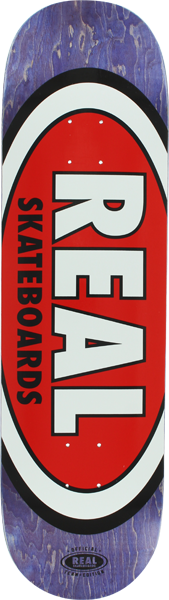 Real Team Oval Ii Xxl Deck-8.75 Pur/Red