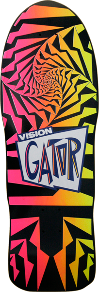 Vision Gator 2 Deck-10.25X29.75 Blk Fade Pnk/Yel