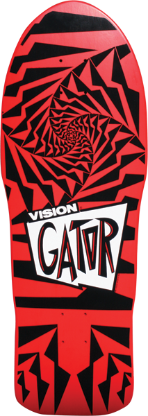Vision Gator Ii Deck-10.25 Red/Black