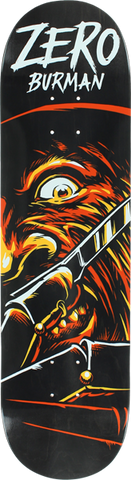 Zero Burman Fright Night Deck-8.25 Blk/Org Il