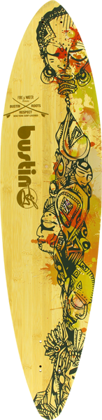 Bustin Surf Pintail 36 Bamboo Deck-8.7X36