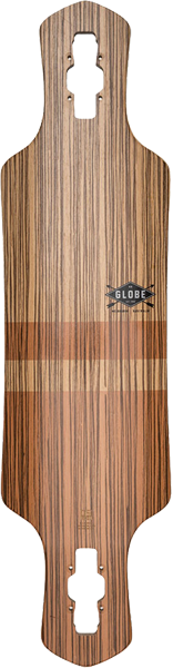Globe Geminon 35 Deck-9X35 Zebrawood/Chocolate