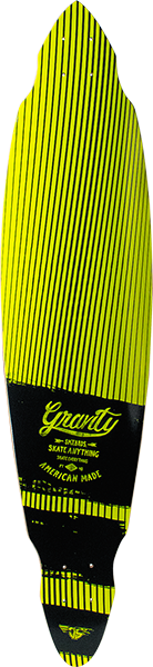 Gravity Pintail Mini Blk/Lime Deck-9.12X40