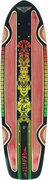 Gravity Routered Rasta Deck-7.81X30 Red/Rasta