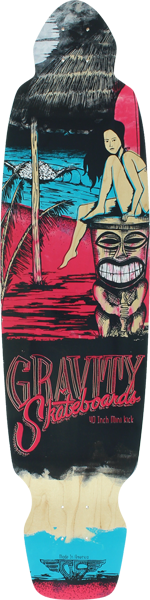 "Gravity Mini-Kick 40"" Mai Tai Pnk Deck-9.75X40"