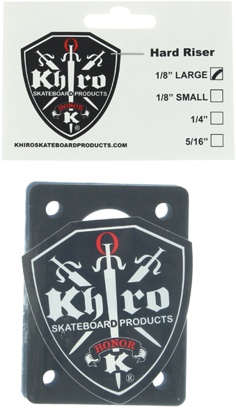 "Khiro Hard Riser Set Large 1/8"" Black"