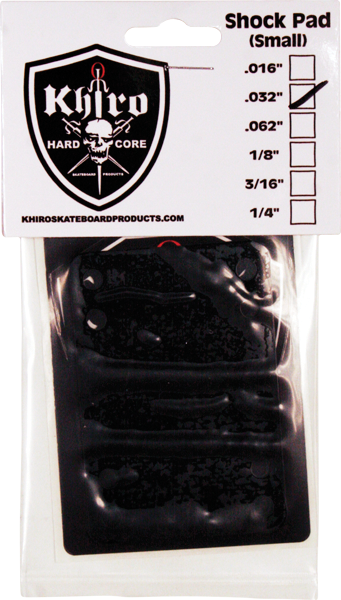 "Khiro Shock Pad Set .032"" Black"