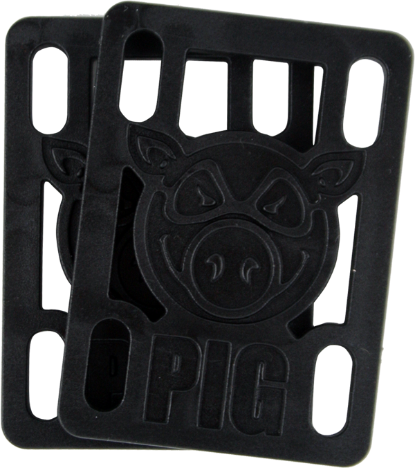 "Pig 1/4"" Risers Black Single Set"