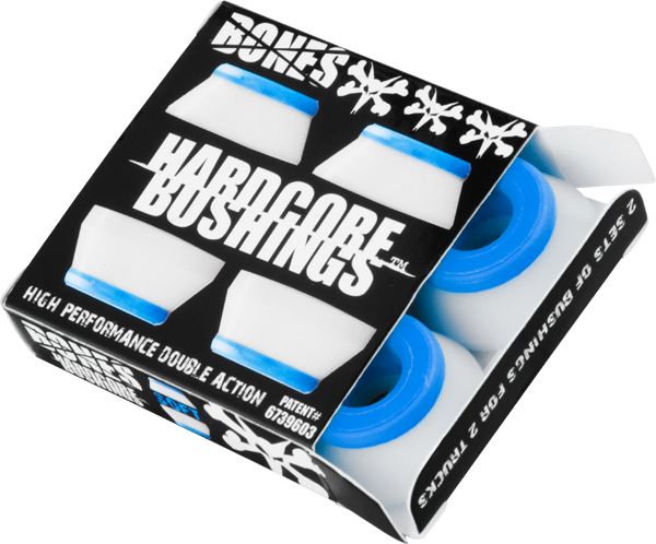 Bones Hardcore 4Pc Soft White/Blue Bushings