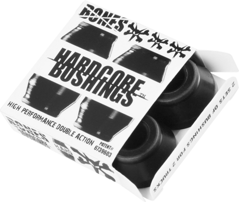 Bones Hardcore 4Pc Hard Black/Black Bushings