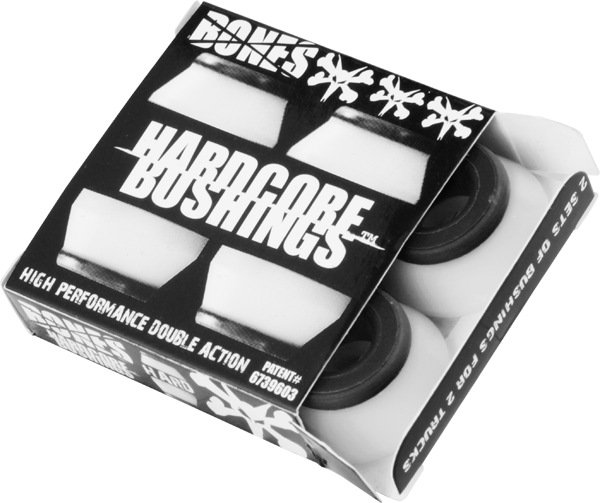 Bones Hardcore 4Pc Hard White/Black Bushings