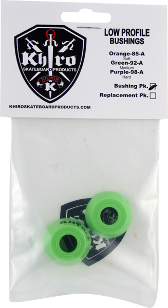 Khiro Low-Pro Bushing Set 92A Med Lime Grn