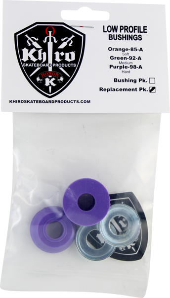 Khiro Low-Pro Bushing/Cup Washer Kit 98A Hard Purp