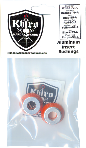 Khiro Alum Insert Bushing Set 79A M-Soft Orange