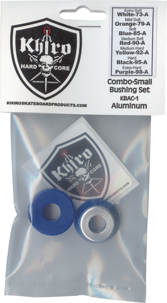 Khiro Sm-Insert/Lg-Brl Bushing Set 85A Soft Blue