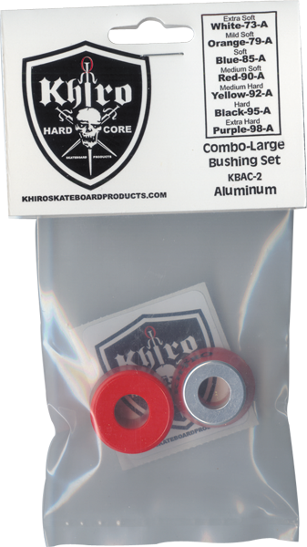 Khiro Lg-Insert/Lg-Brl Bushing Set 90A Med Red