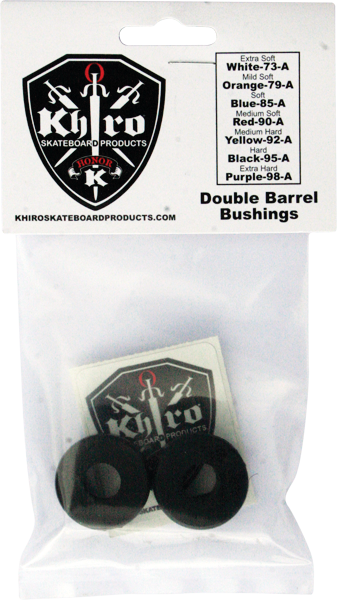 Khiro Double Barrel Bushing Set 95A Hard Black