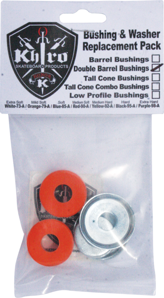 Khiro Dbl-Barrel Bushing/Wash Kit 79A M-Soft Orng