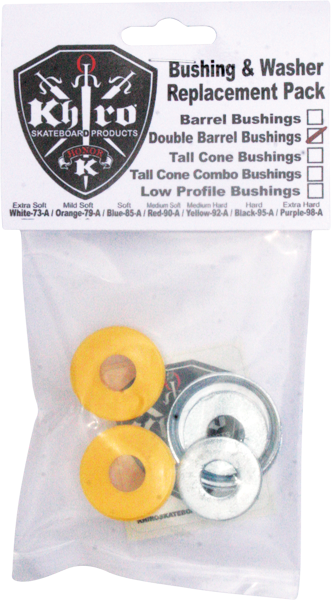 Khiro Dbl-Barrel Bushing/Wash Kit 92A M-Hard Yel