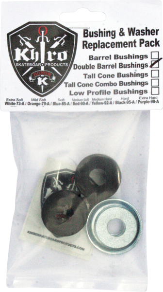 Khiro Dbl-Barrel Bushing/Wash Kit 95A Hard Black