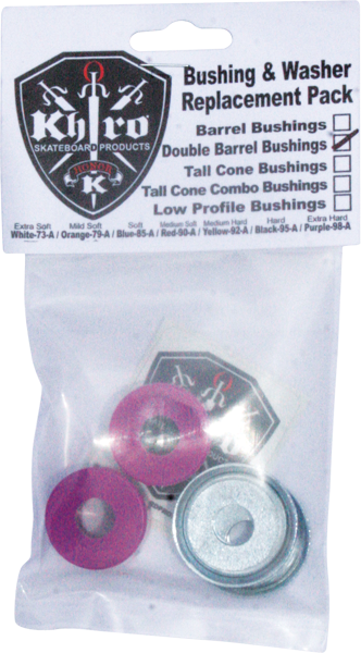 Khiro Dbl-Barrel Bushing/Wash Kit 99A X-Hard Purp