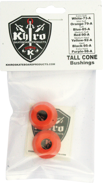 Khiro Tall Cone Bushing Set 79A Mild-Soft Orange