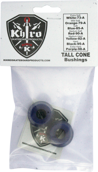 Khiro Tall Cone Bushing Set 85A Soft Blue