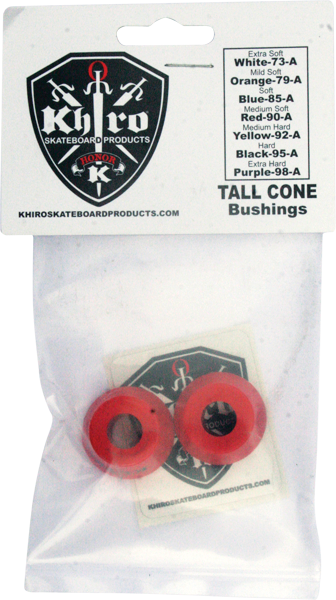 Khiro Tall Cone Bushing Set 90A Med-Soft Red