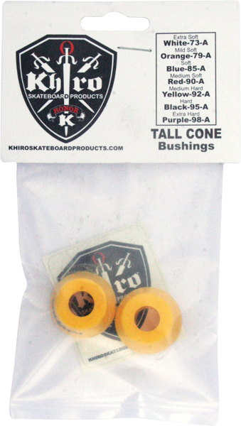 Khiro Tall Cone Bushing Set 92A M-Hard Yellow