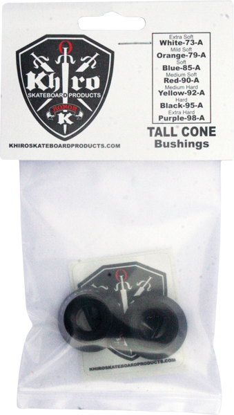 Khiro Tall Cone Bushing Set 95A Hard Black